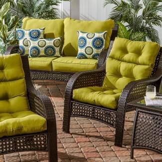 Cojín de silla con respaldo alto para exteriores Darby Home Co y comentarios