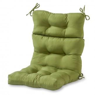 Greendale Home Fashions Cojín de silla con respaldo alto para exteriores ...