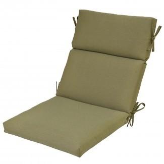 Plantation Patterns Cojín de silla de comedor para exteriores con respaldo alto ...