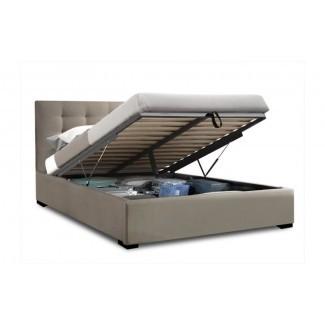 Estructura de cama Queen con almacenamiento de elevación de gas Bronte