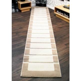 RRP alfombras de corredor de pasillo grueso extra largo marrón chocolate ...