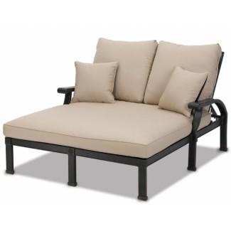 Muebles de cojín Double Chaise Lounge Verde Imagen 30 ...