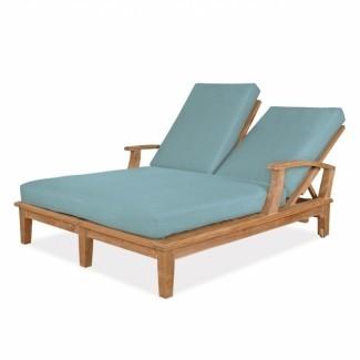 Muebles de cojín doble Chaise Lounge Verde Imagen 30 ...