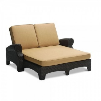 Sunset West Santa Barbara Wicker Double Chaise Lounge ...