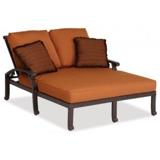 newport doble chaise w / cojín - Contemporáneo - Exterior. ..