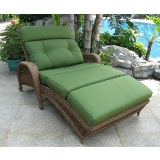 Muebles de cojín doble chaise green Imagen 30 ...