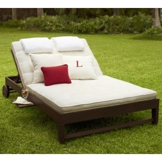 Chesapeake Double Chaise and Cushion - Traditional ...