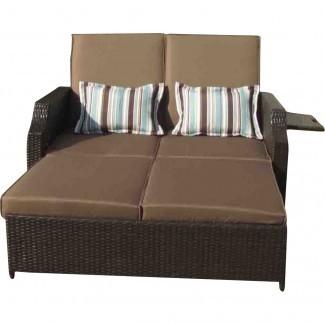 Gazebo Penguin Double Chaise Lounge con cojines ...