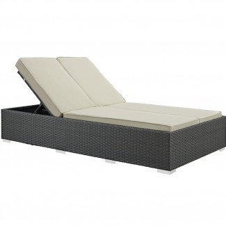 Modway Sojourn Double Chaise Lounge con cojín | Wayfair