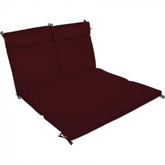 Cojín doble chaise de color burdeos -