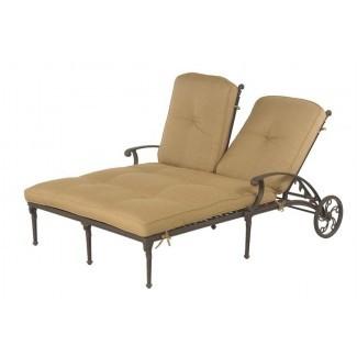 Cojines al aire libre con doble chaise lounge |