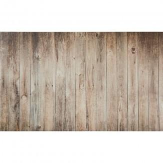 Alfombra antideslizante de espuma viscoelástica de tablones de madera