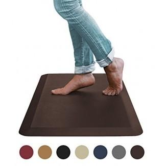 Alfombrilla antifatiga Comfort de Sky Mats - Calidad de grado comercial perfecta para escritorios, cocinas y garajes de pie - Alivia el dolor de pies, rodillas y espalda