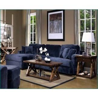 Opciones de diseño del sofá seccional azul marino   HomesFeed