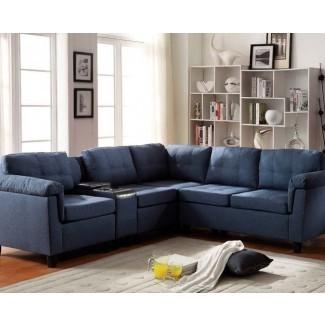 Excepcional sofá seccional azul marino # 3 azul seccional ...