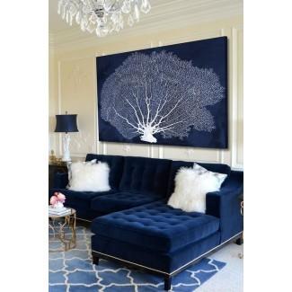 Muebles: diseño de sofá de terciopelo azul de moda para inspirar ...