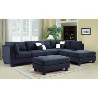 20 Inspiraciones de sofá seccional azul marino