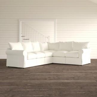 Sección seccional tapizada en forma de L Jameson