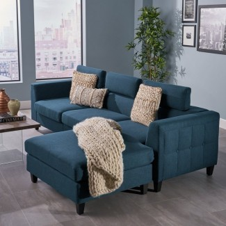 Lundberg Chaise moderno con asiento profundo Modular