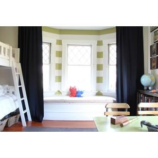15 Colección de cortinas opacas Bay Window | Ideas de cortinas