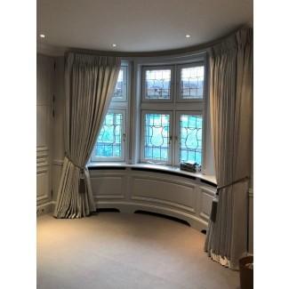 Cortinas de la ventana de la bahía | Cortinas hechas Londres | Ideas para cortinas