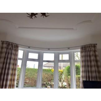 Postes de cortina de ventana de hierro forjado de SP Harrison