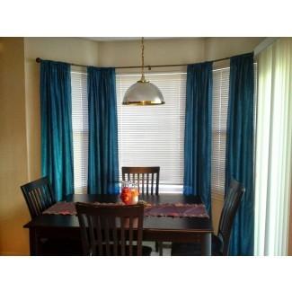 Barras de cortina perfectas para ventanas de bahía | HomesFeed