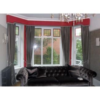 cortinas de la ventana de laurel