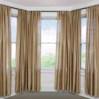 15 Colección de cortinas opacas Bay Window | Ideas para cortinas