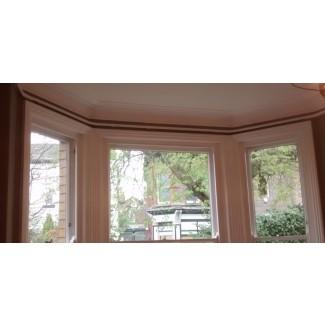 rieles de cortina de ventana panorámica que se ven geniales y funcionan incluso