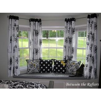Las mejores barras de cortina para ventanas saledizas | HomesFeed