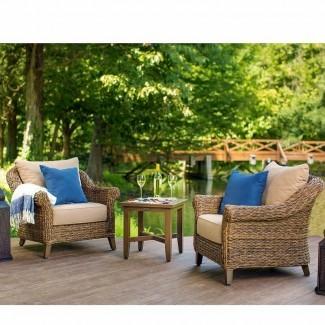 Bahamas Grupo de asientos de silla de patio con cojines