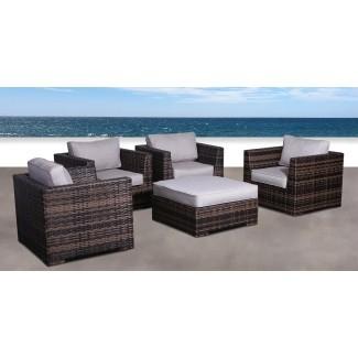 Pierson Resort Juego de silla de patio de 5 piezas con Cojines