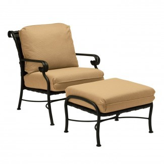 Woodard Ramsgate Outdoor Lounge Chair and Ottoman con ...