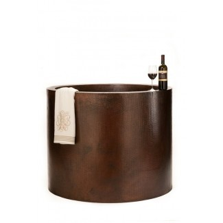 "Bañera de cobre de estilo japonés martillado a mano de 45 ""x 45"""