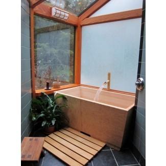 Las bañeras de estilo japonés se enganchan en el baño de los EE. UU. ...