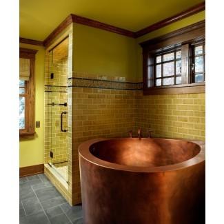 Obtenga emocionantes ideas de baño en estilo asiático con pequeños ...
