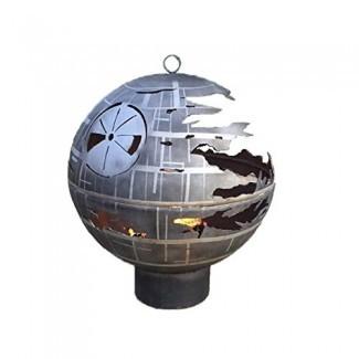 Réplica del pozo de fuego de la Estrella de la Muerte al aire libre de Starwars hecha de acero para patios y terrazas en el hogar