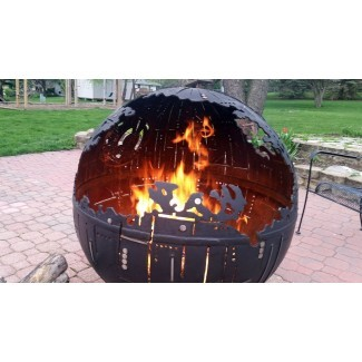 The Star Wars Death Star Fire Pit   MyBooThang