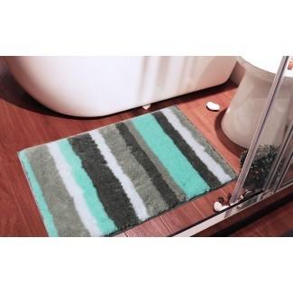 Amazon.com: microfibra antideslizante para alfombra de baño HEBE ...