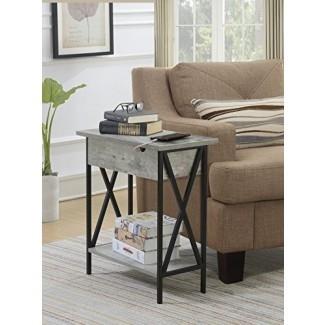 Conveniencia Concepts 161859C1 Flip Top Table Faux Birch