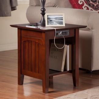 Atlantic Furniture Charlotte Mesa auxiliar con carga ...
