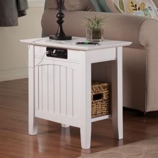 Atlantic Furniture Charlotte - Mesa auxiliar con ...