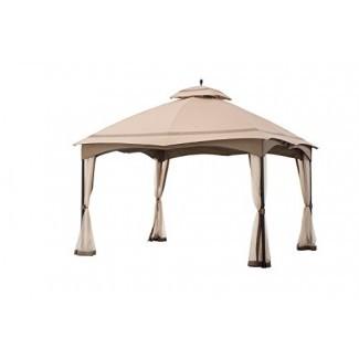 Sunjoy Gazebo de techo suave tipo cabina de 12 'x 10' con mosquitera
