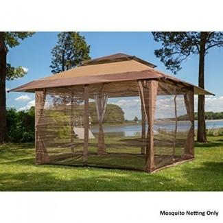 NUEVO Paneles de mosquitero Gazebo Canopy Set Marrón ...