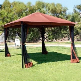 10 x 12 Patio Gazebo Canopy con mosquitera