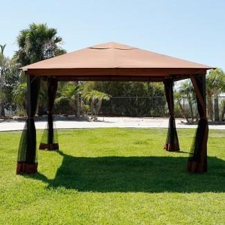 10 x 12 Patio Gazebo Canopy con mosquitera [19659012] 10 x 12 Canopy Patio Gazebo con Mosqui a la red </div> </p></div> <div class=