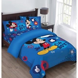 Disney Mickey Mouse ¡Oh, chico! Juego de edredón Twin Bedding  