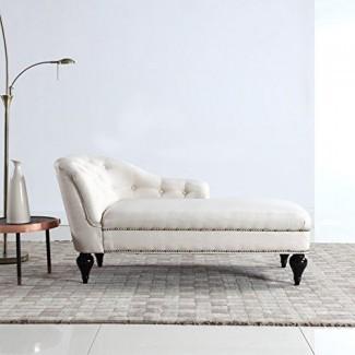 Divano Roma Furniture Moderna y elegante chaise lounge para niños para sala de estar o dormitorio