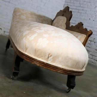 Eastlake Victorian Récamier Tumbona Sofá desmayo ...